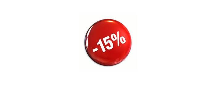 Dłużej taniej - 15%